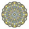 Rundschreiben dekorativen Ornament, Mandala, arabisch