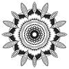 Rundschreiben dekorativen Ornament, kunstvollen Muster
