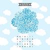 Векторный клипарт: Декоративный фон из каракули облака