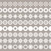 Векторный клипарт: Набор цветочных границ, цветочными элементами