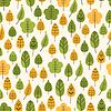 Векторный клипарт: Бесшовные фон с листьями, листопад
