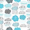 Векторный клипарт: Полная картина каракули облака