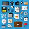 Flat icons bundle. Business concept | Stock Vector Graphics