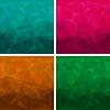 Set von abstrakten modernen Stil Dreieck Hintergründe