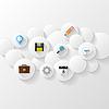 abstrakter Hintergrund. Cloud-Storage-Konzept