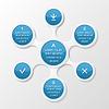 Metaball Diagramm. Infografik-Elemente