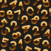 Nahtlose Muster mit goldenen Zahlen