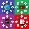 Set von Web-und Business-Konzepte