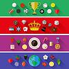 Satz von Natur-, Sport-, Lebensmittel-und Getränke-Konzepte