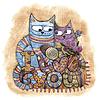 Kotów w miłości | Stock Vector Graphics