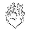 Flammendes Heart | Stock Vektrografik