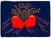 Flammenden Herzen | Stock Vektrografik