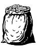 Beutel mit Münzen | Stock Vektrografik