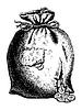 Beutel zerrissen von Münzen | Stock Vektrografik