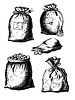 Sammelsäcke mit Münzen | Stock Vektrografik