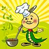 Soya bean chef | Stock Vector Graphics
