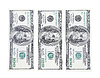 US-Dollar. Drei Rechnungen. Aufrecht | Stock Foto
