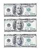 US-Dollar. Drei Rechnungen. Horizontal | Stock Foto