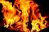 Flamme Feuer Flamme Textur Hintergrund | Stock Foto
