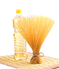 Haufen Spaghetti, Öl, auf Serviette | Stock Foto