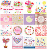 Greeting cards for Mother`s Day   Stock Vector Graphics