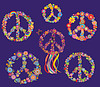 Set of Peace Blumensymbol