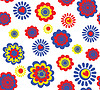 Funny seamless floral wallpaper