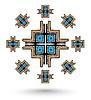 ID 4312944 | Aztec cross mandala | Stockowa ilustracja wysokiej rozdzielczości | KLIPARTO