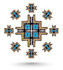 ID 4312944 | Ацтекский крест мандала | Иллюстрация большого размера | CLIPARTO