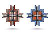ID 4312947   Zwei abstrakte inca Quer   Illustration mit hoher Auflösung   CLIPARTO