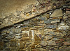 Old eroded stone wall | Stock Foto