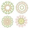 Kolorowy kwiatowy ornament koronki etniczną | Stock Vector Graphics