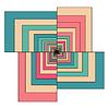 Retro kolorowe geometryczne abstrakcyjna sześciokąt | Stock Vector Graphics
