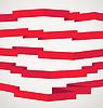 Verschiedene Retro-Stil rote Bänder festgelegt. Bereit für