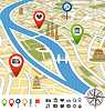 ID 4090714 | Abstract city map with places of interest | Klipart wektorowy | KLIPARTO