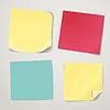 Leere Farbpapier Aufkleber Sammlung