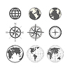 ID 4168619 | Globe und Windrose Schema Sammlung | Stock Vektorgrafik | CLIPARTO