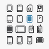 ID 4168622 | Different mobile phones icons set with rounded | Klipart wektorowy | KLIPARTO