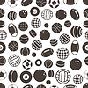 Sport Ball Silhouetten nahtlose Muster