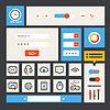 Web-Interface-Vorlage. Flaches Design