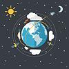 Flaches Design Erde im Raum