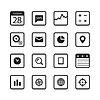 Moderne Geräte Buttons-Auflistung