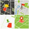 ID 4277627 | Abstrakt Stadtplan Sammlung mit Stiften | Illustration mit hoher Auflösung | CLIPARTO