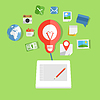 ID 4323742 | Moderne Web-Technik-Konzept | Stock Vektorgrafik | CLIPARTO