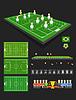 Fußballspiel Infografik-Elemente. Flaches Design