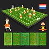 Fußball-WM-Team-Präsentation. Holland-Team