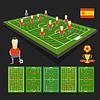 Fußball-WM-Team-Präsentation. Spanien-Team