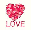 Estilizada corazón rosa | Ilustración vectorial