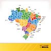 Landkarte von Brasilien