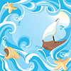 Abstract Sea Hintergrund | Stock Vektrografik
